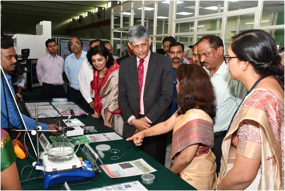 Demonstration of Sensors Technology Developed at SVTC to Honorable Secretary, DHI, New Delhi